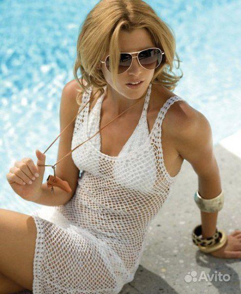 на Платья пляжные вязание