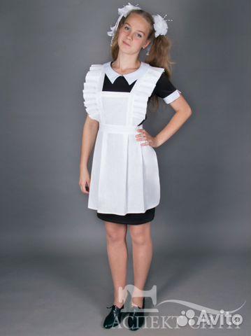 Школьные платья с фартуком для старшеклассниц