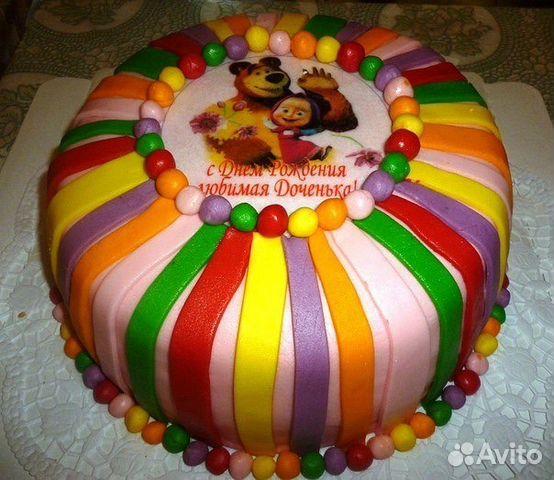 Торт из мастики для детей фото