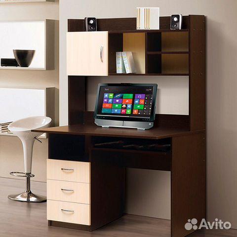 компьютерный стол с надстройкой без полки для клав купить в санкт