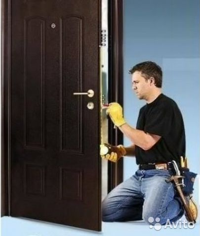 профессиональная установка металлической двери