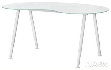 стеклянный письменный стол икеа галант 160х75 Festimaru