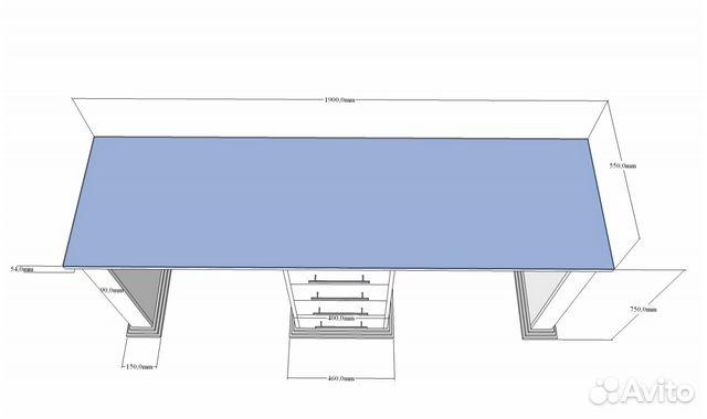 Двойной маникюрный стол 48 Антик 88612907202 купить 2