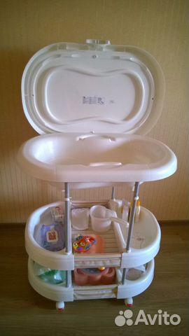 Пеленальный столик с ванночкой mothercare