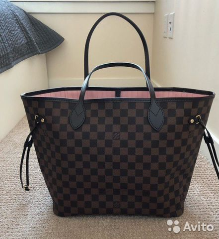 be1ae6a26636 Сумка Louis Vuitton Neverfull MM Damier Ebene Rose | Festima.Ru ...