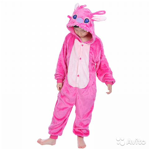 Кигуруми детский стич розовый  6054babb5743d