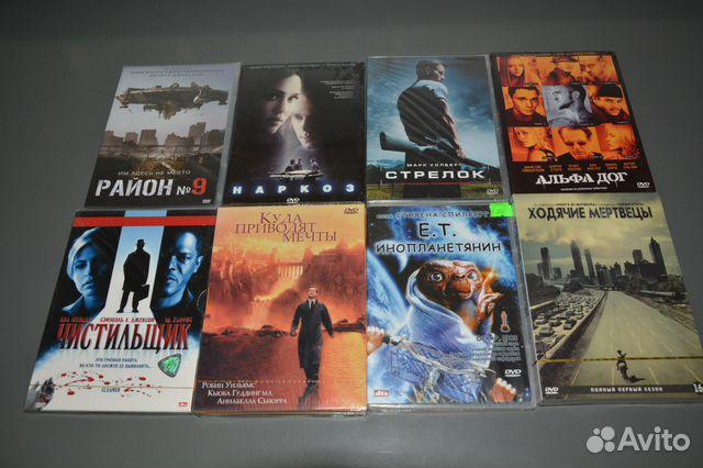 Dvd диски в заводской упаковке фильмы