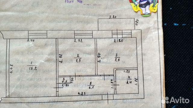 2-к квартира, 42.8 м², 4/5 эт. 89003759035 купить 1