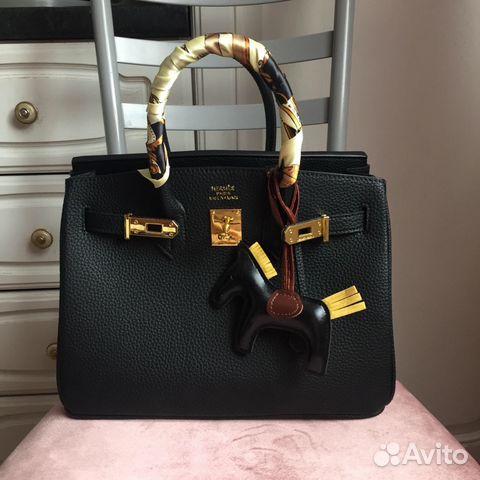 9e843a2daf9b Новая кожаная чёрная сумка Hermes birkin Lux купить в Москве на ...