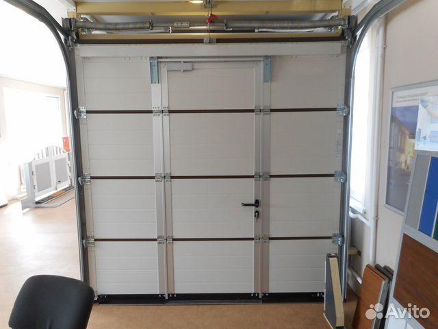89128655291 Ворота секционные гаражные 2200х2300мм с калиткой
