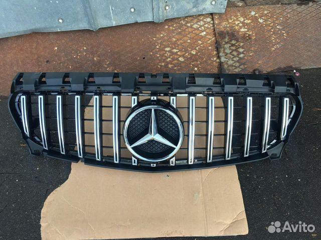 Решетка mercedes 117 CLA GT серебристая