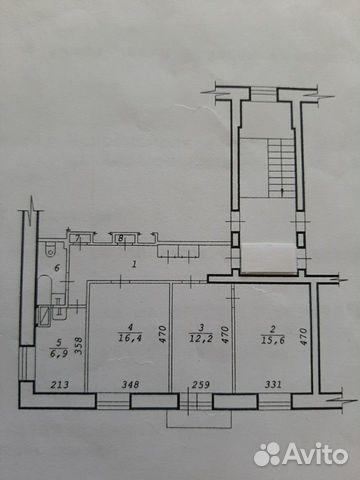 Комната 16 м² в 3-к, 3/3 эт. купить 1