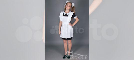 Платье с фартуком на последний звонок купить в Москве на Avito — Объявления  на сайте Авито bab50a82831