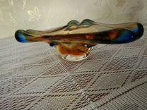 Пепельница из чешского стекла