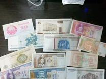 Лот разных банкнот 43 шт