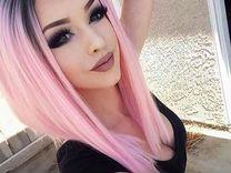Парики омбре розовый и серый