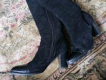 Сапоги зимние, замшевые, натуральный мех — Одежда, обувь, аксессуары в Перми