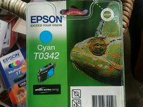 Картридж Epson cyan t0342