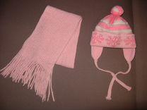 Шапка + шарф для девочки 3-4 лет