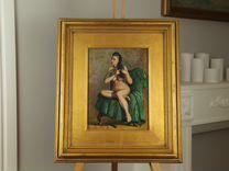 """Старинная картина """"Обнаженная на зеленом"""", 1920"""