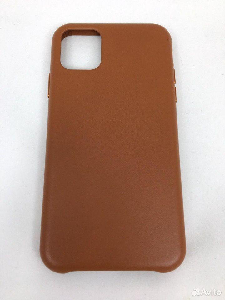 Кожаный чехол Leather Case Apple iPhone 11 Brown  89112002770 купить 2
