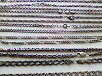 Цепочки серебреные 925 проба б\у