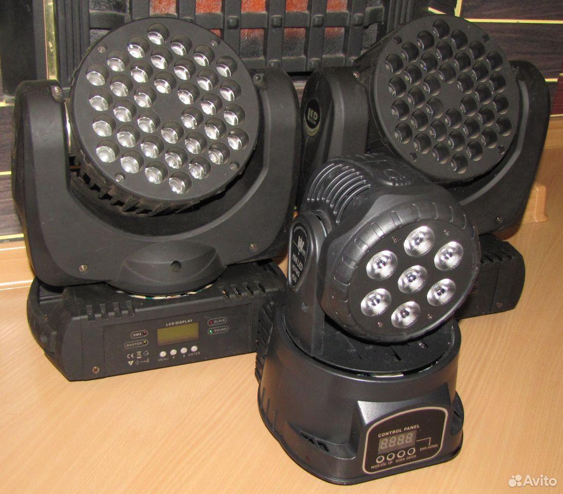 Проф светомузыка 3 вращающиеся головы LED микрофон  89128899109 купить 5