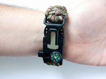 Часы 5в1: браслет из паракорда, огниво, свисток, к