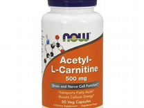 Л-Карнитин NOW Acetyl L-carnitine 500 мг 200 вег