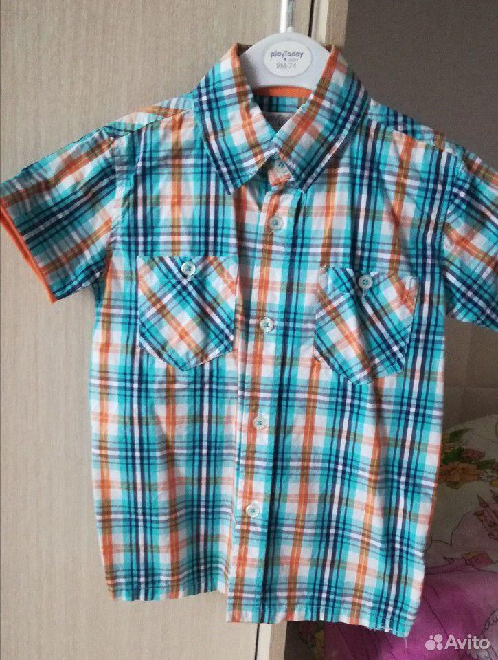 Рубашка для мальчика Play Todey, размер 110  89211708187 купить 1