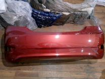 Бампер задний hyundai solaris 10-14г.красный TDY
